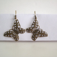 Earrings, Butterfly Shapped