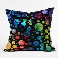 DENY Designs Home Accessories | Madart Inc. Polka Dots Black Throw Pillow
