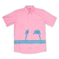 Palms Short-Sleeve Woven - X-Large / Pink