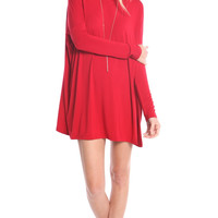 RED OVERSIZE TUNIC DRESS (made from Bamboo)