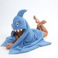 Shark hooded towel by Yikestwins on Etsy