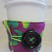 Purple Hawaiian Coffee Cozy