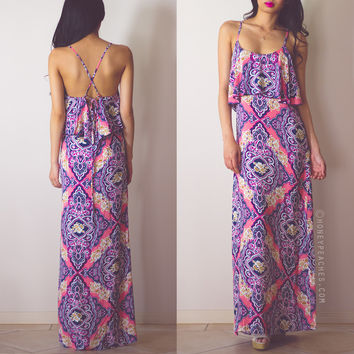 Let The Sunshine In Maxi Dress - Pink -