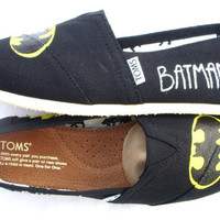 The Batman - Black and Yellow Custom TOMS
