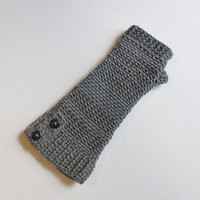 Fingerless Gloves - Pewter - Made to Order
