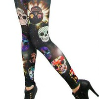 Skull Warriors [Leggings,Tights,Bottoms,Pants]