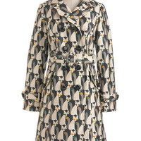 Orla Kiely The Fox of Life Coat | Mod Retro Vintage Coats | ModCloth.com
