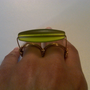 Two Finger Green Glass Ring