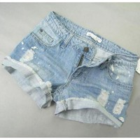 Women All Matching Low Waisted Fashion Blue Jean Short Pants XS/S/M/L/XL@WH0027bl $22.49 only in eFexcity.com.