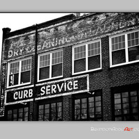 Urban Black and White Photo Brick Building Asheville Photography