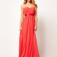 Sweetheart Chiffon Maxi Dress - Basadress.com