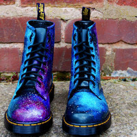 Galaxy Cosmic Gothic Print Doc Dr Martens. Hand Painted . made to order. any size