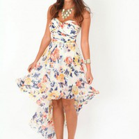 Missguided - Neronika Floral Asymmetric Dress