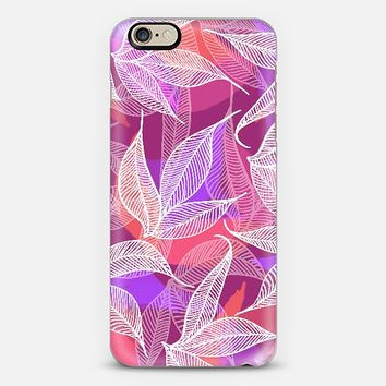 Tropical Leaves pinks & purples iPhone 6 case by Sandra Arduini | Casetify