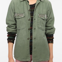 Urban Renewal Studded Army Shirt Jacket