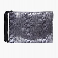 Vegan Leather Shimmer Clutch