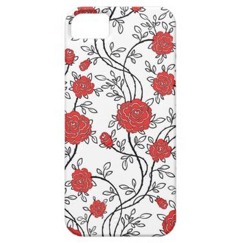Red Rose Floral Pattern