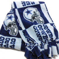 Dallas Cowboys Polar Fleece, Infinity Scarf, Kids Adults, Double Layer, Women Men Accessory