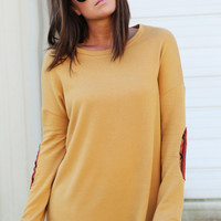 Adobe Patch Tunic {Mustard}