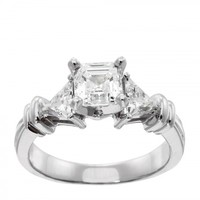 Engagement Rings   Solitare Accent   Maya Engagement Ring