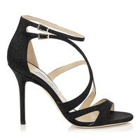 Black Spotted Leather Strappy Sandals | Furrow | Spring Summer 15 | JIMMY CHOO Shoes