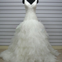 Elegant wedding dress custom made by lovelyvintagejewels on Etsy