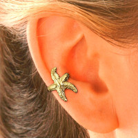 Starfish Ear Cuff in Gold Vermeil for the RIGHT EAR.