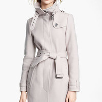 Burberry Brit 'Rushworth' Belted Wool Blend Coat