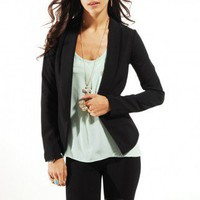 Long Sleeved Crop Back Blazer