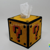 Mario Question Block Tissue Box Cover