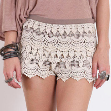 Windowpane Crochet Shorts - $36.00 : ThreadSence.com, Your Spot For Indie Clothing & Indie Urban Culture