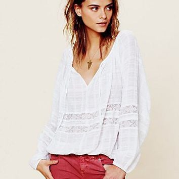 Free People Meadow Bubble Sleeve Top