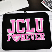 JCLU Forever Christian t-shirts — JCLU FOREVER NEOPRENE LAPTOP HOLDER