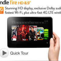 "Kindle Fire HD 8.9"" 4G - Latest Wireless Technology with 4G LTE"