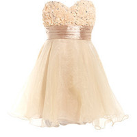 Chi Chi Cream Rose Sash Prom Dress
