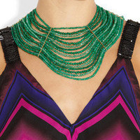Rosantica | Aurora 24-karat gold-dipped agate and jade necklace | NET-A-PORTER.COM
