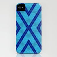Blue X-FILE iPhone Case by Bruce Stanfield | Society6