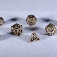 Deathly Hallows Dice by gythawen on Shapeways