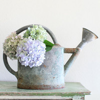 Antique French Zinc Watering Can
