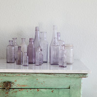 Antique Lavender Bottles