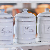 Decorative Country Living ~ Vintage French storage tins