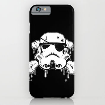 Pirate Trooper - Black iPhone & iPod Case by Nicklas Gustafsson