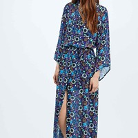 Textile Federation Midnight Maxi Shirt Dress in Blue - Urban Outfitters