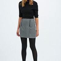 Cooperative Houndstooth Pelmet Skirt in Mono - Urban Outfitters