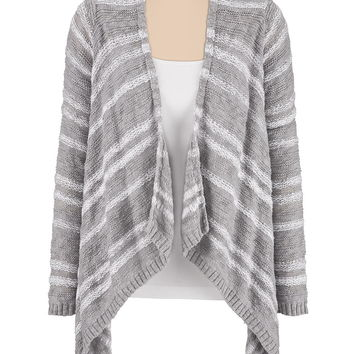 striped blanket cardigan