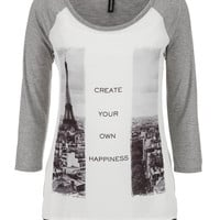 """""""create your own happiness"""" graphic tee"""