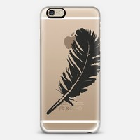 white feather iPhone 6 case by Julia Grifol designs. Surface pattern designer.   Casetify