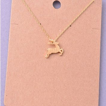 Reindeer Delicate Necklace
