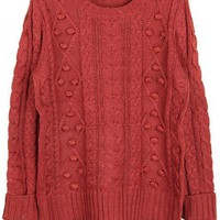 Vintage Twist Round Neck  Sweater$48.00