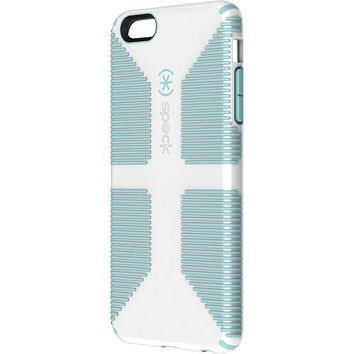 Speck - CandyShell Grip Case for Apple® iPhone® 6 Plus - White/Blue